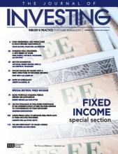 The Journal of Investing: 26 (2)