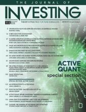 The Journal of Investing: 26 (4)