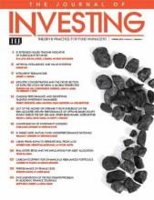 The Journal of Investing: 27 (1)