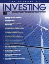 The Journal of Investing: 27 (2)