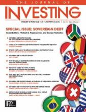 The Journal of Investing: 27 (3)