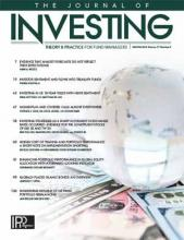 The Journal of Investing: 27 (4)