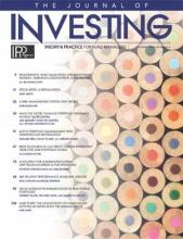 The Journal of Investing: 28 (4)