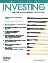 The Journal of Investing: 28 (5)