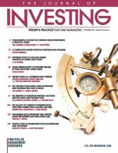 The Journal of Investing: 28 (6)