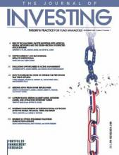 The Journal of Investing: 29 (1)