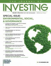 The Journal of Investing: 29 (2)