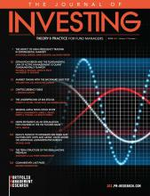 The Journal of Investing: 29 (4)