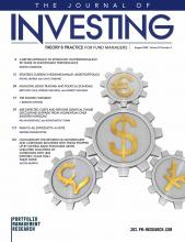 The Journal of Investing: 29 (5)