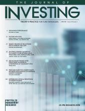 The Journal of Investing: 30 (3)