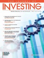 The Journal of Investing: 30 (4)