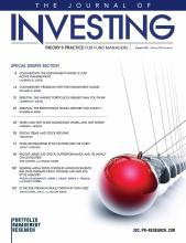 The Journal of Investing: 30 (5)