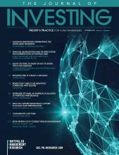 The Journal of Investing: 30 (6)